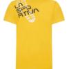 La Sportiva Footstep T-Shirt Men's, Yellow, Back View