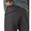 Arc'teryx Creston AR Pant Men's, Carbon Copy, External Pocket Back