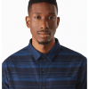 Arc'teryx Mainstay Shirt LS Men's, Microcosm:Kingfisher, Collar