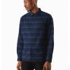 Arc'teryx Mainstay Shirt LS Men's, Microcosm:Kingfisher, Front View