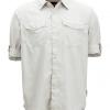 ExOfficio BugsAway Briso LS Shirt Men's, Bone, Folded Sleeves
