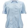 ExOfficio BugsAway Zeta Stripe LS Shirt Women's, Chambray, Folded Sleeves