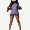Houdini Activist Message Tee Women's, Lavender Woods, Outfit