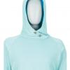 Marmot Sunrift Hoody Women's, Blue Tint, Front View Hood Up