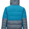 Marmot Shadow Jacket Men's, Steel Onyx:Moroccan Blue, Back View